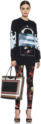 Givenchy Red Floral Print Jersey Legging in Multi