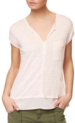 Petite Women's Sanctuary City Mix Layered Look Tee $44 thestylecure.com