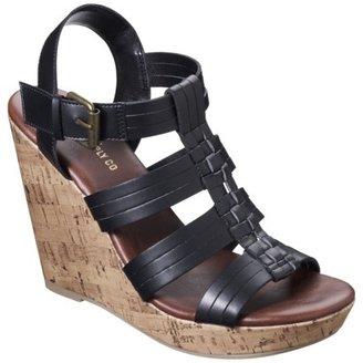 Mossimo Women's Waylon Harachi Cork Wedge Sandal - Black