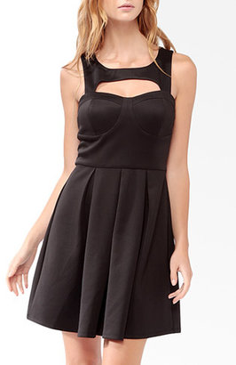 Forever 21 Squared Cutout Bustier Dress