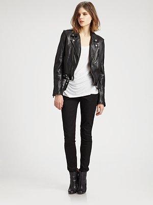 BLK DNM Moto Leather Jacket