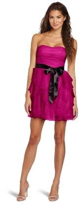 Teeze Me Juniors Short Petal Tube Glitter Dress