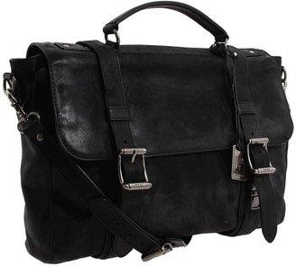Frye Logan Flap Brief Case (Black) - Bags and Luggage