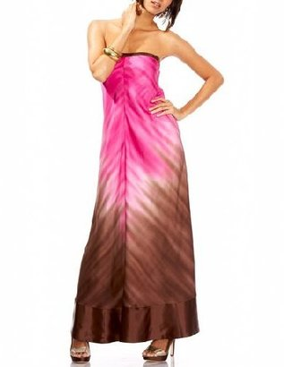 Bebe Two-Tone Ombre Strapless Maxi Dress