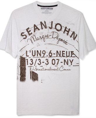 Sean John Big and Tall T-Shirt, 13/3-3 Short Sleeve Graphic T-Shirt