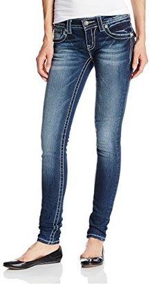 Miss Me Juniors Cross Flap Pocket Skinny Jean