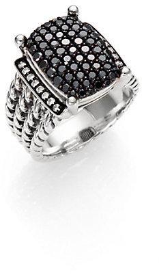 David Yurman Wheaton Ring with Black and White Diamonds