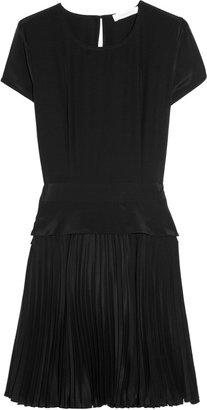 Richard Nicoll Pleated silk crepe de chine dress