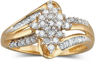 FINE JEWELRY Diamond Cluster Ring 1/3 CT. T.W. 10K Gold $499.98 thestylecure.com