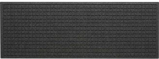 """Crate & Barrel Thirsty Squares® Charcoal 21""""x58"""" Mat"""