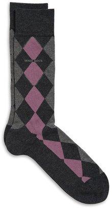 HUGO BOSS 'RS Design US'   Cotton-Modal Argyle Socks by BOSS