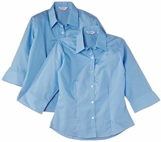 """Trutex Limited Girl's 3/4 Sleeve Fitted Blouse (pack of 2),(Manufacturer Size: 34"""" Chest)"""