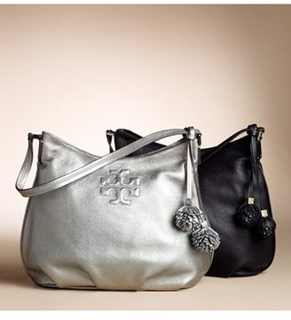 Tory Burch 'Thea' Metallic Leather Hobo