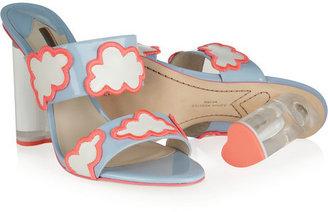 Webster Sophia Skye cloud-appliquéd patent-leather mules