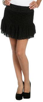 Wet Seal WetSeal Crochet Lace Mini Skirt Black