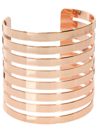 Asos Cut Out Stripe Cuff Bracelet