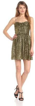 Jill Stuart Jill Women's Strapless Sequin Party Dress