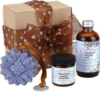 Babybearshop Organic Gift Set: Organic Mama Belly Oil, Cheeky Baby Butter, Flower Soap""