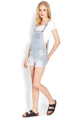 Forever 21 Blue Jeans Babe Overall Shorts