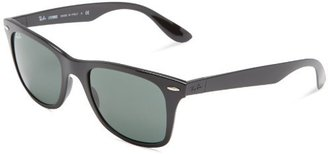 Ray-Ban RB4195 Black/Green Sunglasses 52mm