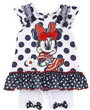 Nannette Minnie Mouse 12-24 Months Top & Shorts Set