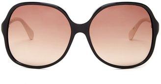 Diane von Furstenberg 60mm Oversized Plastic Frame Sunglasses
