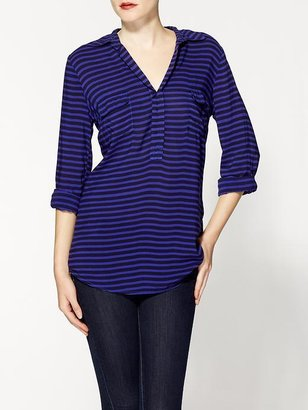 Splendid Shirting Stripe Pocket Tunic