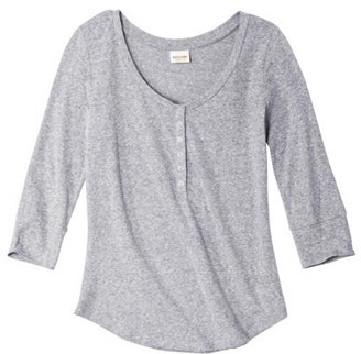 Mossimo Juniors 3/4 Sleeve Snap Henley - Assorted Colors