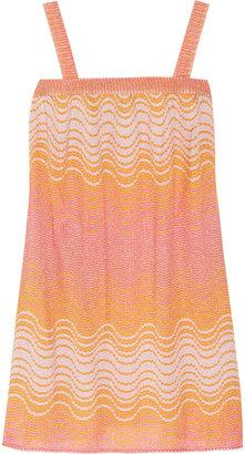 Missoni Madras metallic crochet-knit dress