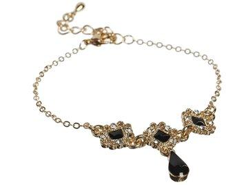 Asos Filigree Charm Bracelet - Black
