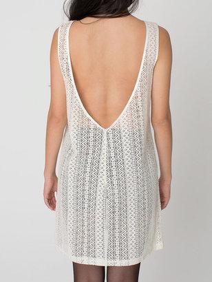 American Apparel Zig Zag Lace Scoop Back Dress