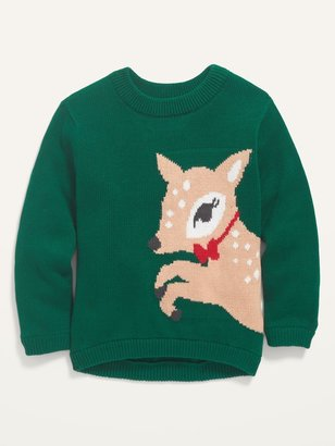 Old Navy Deer-Critter Graphic Pullover Sweater for Toddler Girls