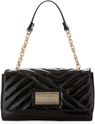 Versace Chain-Strap Logo Shoulder Bag, Black