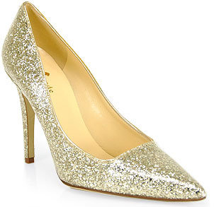 Kate Spade Lollipop - Gold Patent Leather Pointed Toe Pump