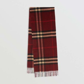Burberry The Classic Check Cashmere Scarf, Red