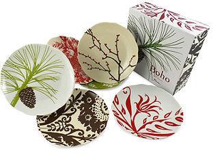 Rosanna Dinnerware, Set of 6 Boho Dessert Plates