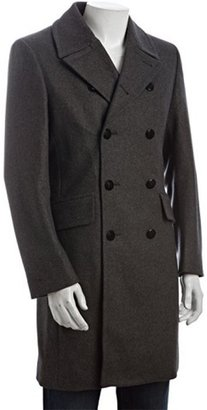 Paul Smith grey wool blend double breasted peacoat