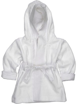 Juicy Couture White Terry/Linen Bathrobe (Infant) (White) - Apparel