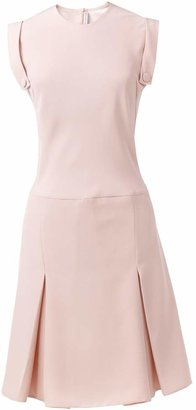 Atelier FG Pink Nude Crepe Dress
