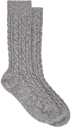 Corgi Cable-knit Socks