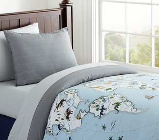 Pottery Barn Kids Map Duvet Cover