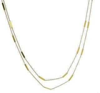 Jennifer Meyer 44 Inch Yellow Gold Bar Necklace