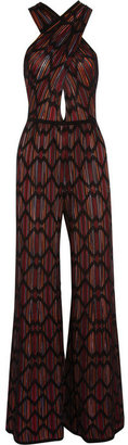M Missoni Wide-leg cotton-blend crochet-knit jumpsuit