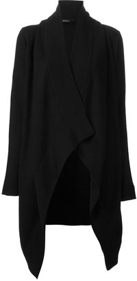 Unconditional drape front cardigan