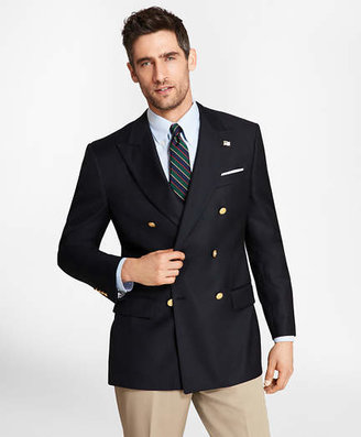 Brooks Brothers Country Club Saxxon Wool Double-Breasted Blazer
