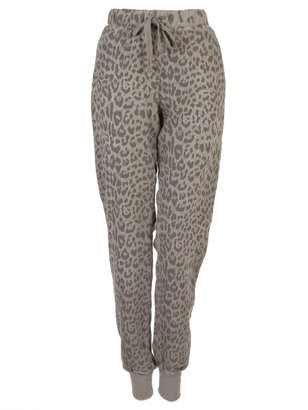 Current/Elliott Leopard Print Perfect Sweatpant In Grey