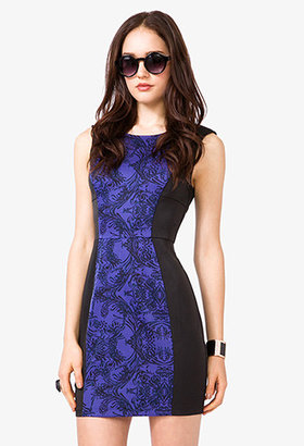 Forever 21 Abstract Bodycon Dress