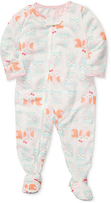 Carter's Toddler Girls' Owl-Print One-Piece Footed Coverall