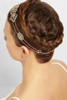 Jennifer Behr Octavia Halo gold-plated Swarovski crystal headband