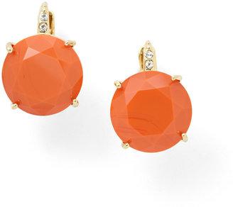 Fossil Glass Earrings- Orange